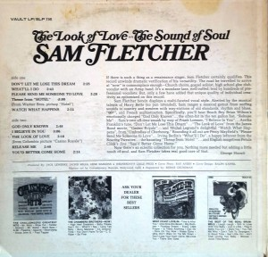 Sam Fletcher The Look Of Love - The Sound Of Soul back