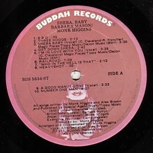 sheba baby soundtrack - label