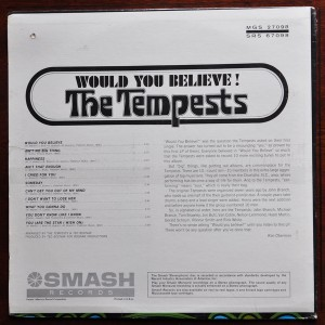 the tempests - would you believe !! back cover