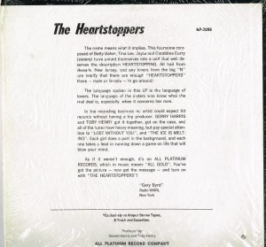 The Heartstoppers back cover
