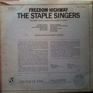 The Staples Singers Freedom Highway back