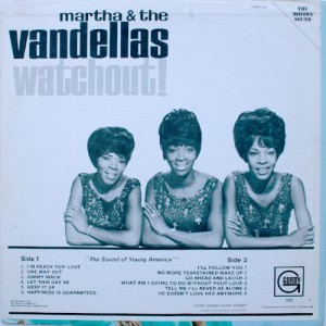 martha reeves & the vandellas 1966 watchout! back cover