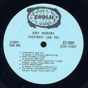 ruby andrews - everybody saw you label 1