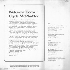 Clyde-McPhatter Welcome Home-back