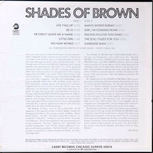 Shades of Brown S.O.B. back