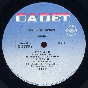 Shades of Brown S.O.B. label 1
