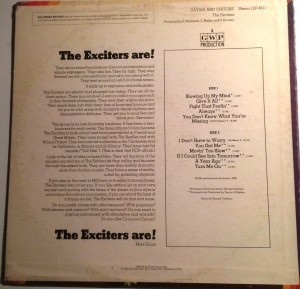The Exciters Caviar & Chitlins back