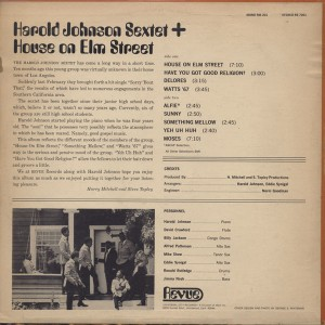 Back - LP Cover - RS 7201 - 1968