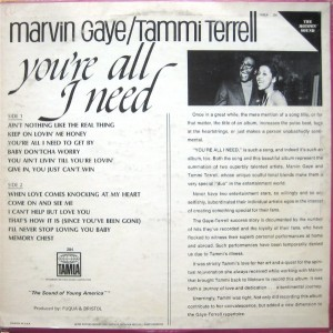 Marvin Gaye & Tammi Terrell You're All I Need back