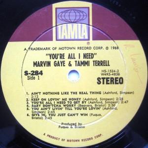 Marvin Gaye & Tammi Terrell label 1