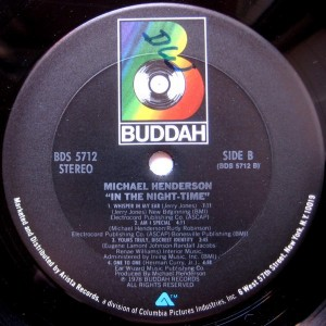 Michael Henderson In The Night Time label 2