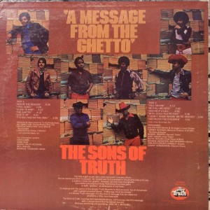The Sons Of Truth A Message From The Ghetto back