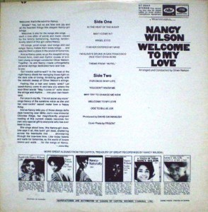 nancy wilson Welcome to My Love back