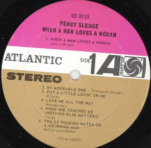 percy sledge When a Man Loves a Woman label 1
