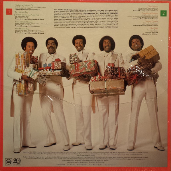 Temptations Christmas.The Temptations 1980 Give Love At Christmas Free