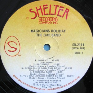 The Gap Band Magicians Holiday label 1