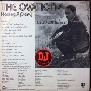the ovations having a party back