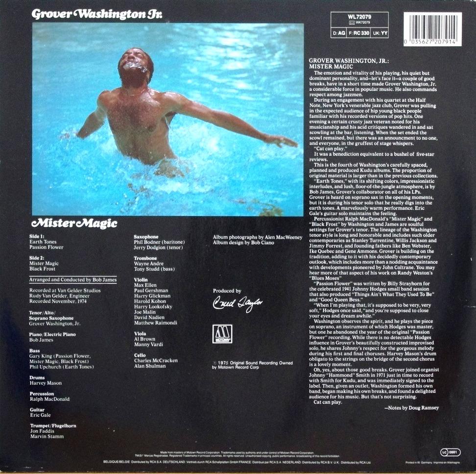 Grover Washington Jr 1975 Mister Magic Free Download
