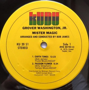 Grover Washington Jr. Mister Magic label 1