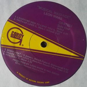 Leon Ware Musical Massage label 1