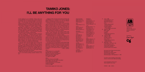 Tamiko Jones - I'll Be Anything For You - Inner Gatefold