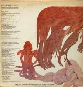 WELDON IRVINE - 1976 - Sinbad'76 RCA) back