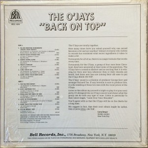 the o'jays on the top back
