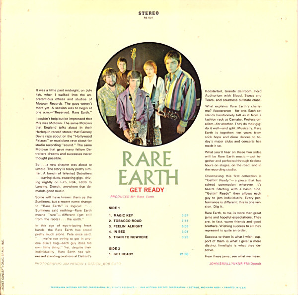 Rare Earth - 1969 - Get Ready Free Download | Funk My Soul